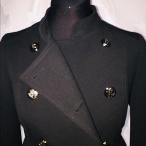 Black soldier style jacket